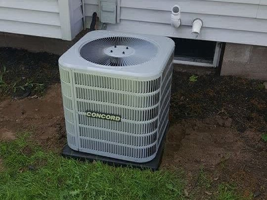 HVAC unit on the side of a home